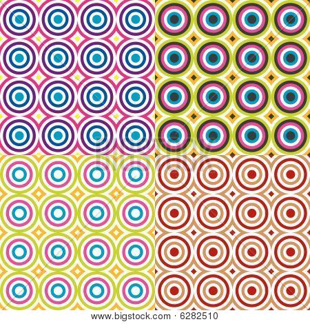 Abstract circles pattern set. Vector.