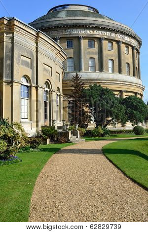 Ickworth Hall and curved path