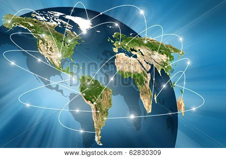 world Map. Best Concept of global business from concepts series.(Elements of this image furnished by NASA)