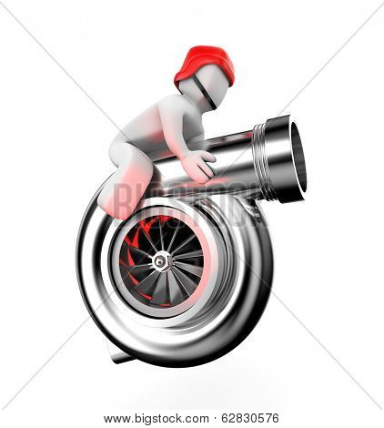 Turbocharger with driver
