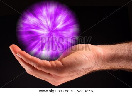 Purple Ball Of Light
