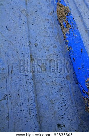 Blue Dinghy Close Up