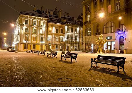 Night Landscape Of Lvov