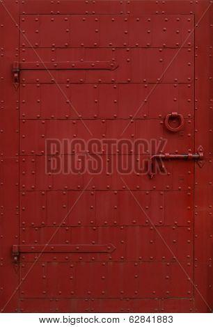 Metal Door With Rivets