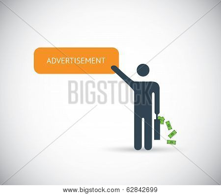 Pay per click affiliate marketing advertisement vector concept