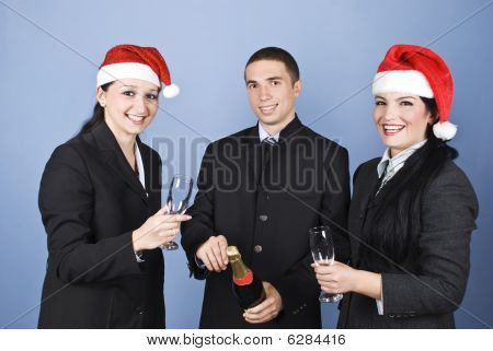 Business People Celebrating Christmas