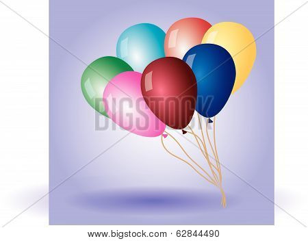 colorful balloons with helium eps10