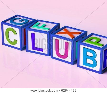 Club Blocks Mean Membership Registration And Subscription