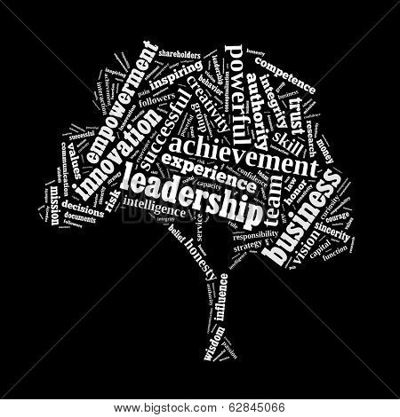 Leadership word cloud conceptual image