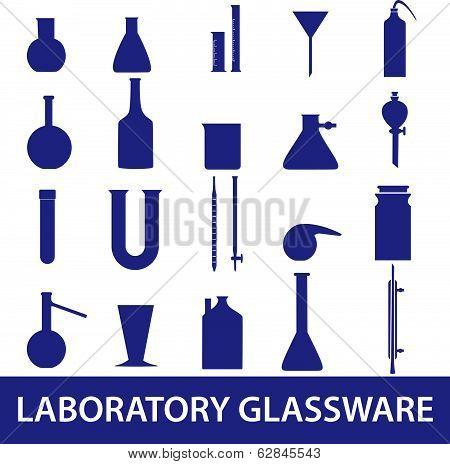 chemistry laboratory glassware set eps10