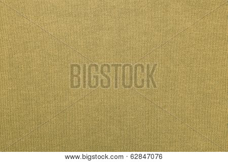 Cotton Fabric Of Yellow-gray Color Closeup