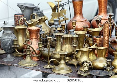 Brass Pots Antique