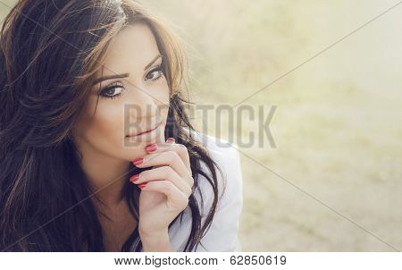 Woman making decisions thoughtful thinking
