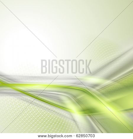 Gray soft abstract background with green element