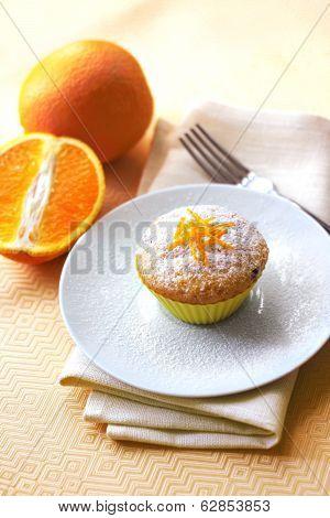 Cottage Cheese Muffin With Raisins And Orange Zest