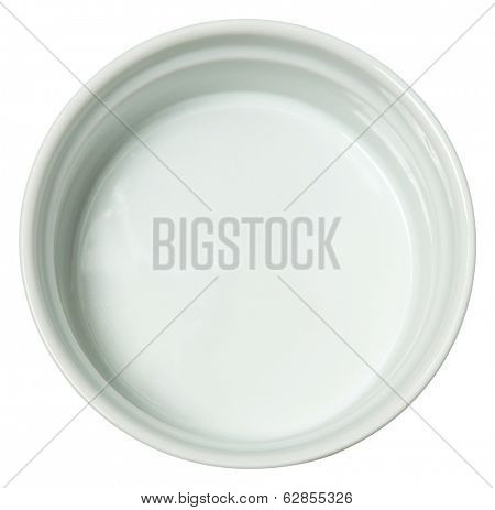 White Ceramic Baking Dish over White.