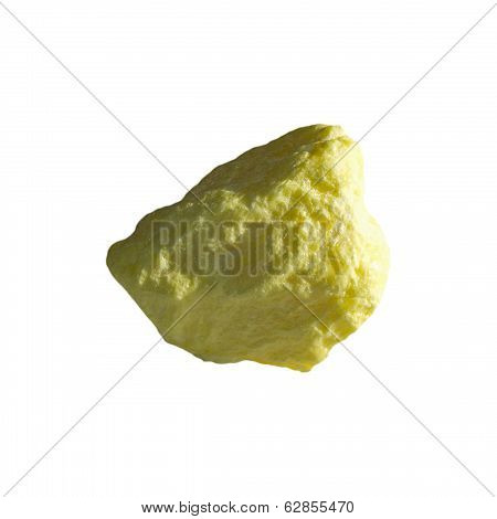 Mineral Sulfur On White Background