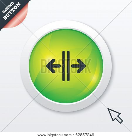Open the door sign icon. Control in the elevator