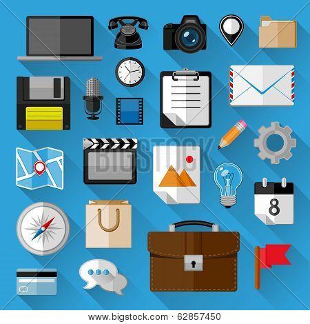 Flat icons bundle. Business concept