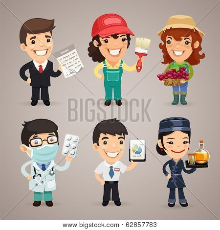 Professions Cartoon Characters Set1.4