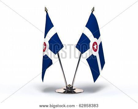 Miniature Flag Of Indianapolis Indiana