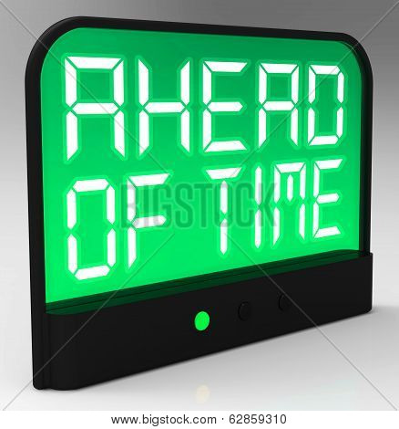Ahead Of Time Clock Shows Earlier Than Expected