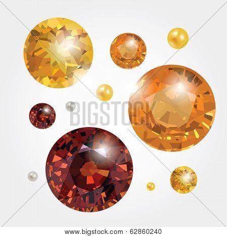 Golden gemstones