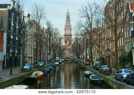 Westerkerk District In Amsterdam