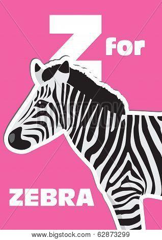Z For The Zebra, An Animal Alphabet For The Kids
