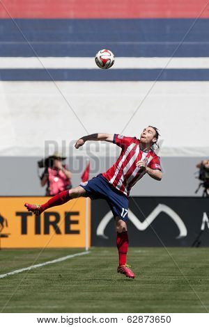 CARSON, CA - APRIL 6: Chivas USA M Thomas McNamara (17) during the MLS game between the Los Angeles Galaxy & Chivas USA on April 6th 2014 at the StubHub Center in Carson, Ca.