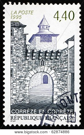 Postage Stamp France 1995 Town Of Correze, Limousin