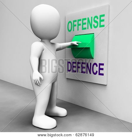Offense Defence Switch Shows Attack Or Defend