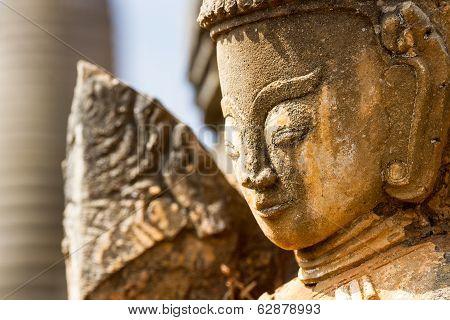 Ancient Statues At Inn Thein Paya, Shan State, Myanmar
