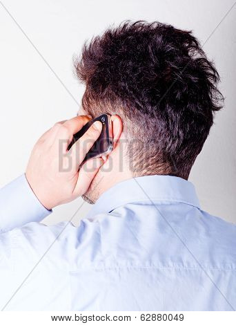 Man Talking On The Smart Phone
