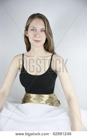 Woman wearing crinoline