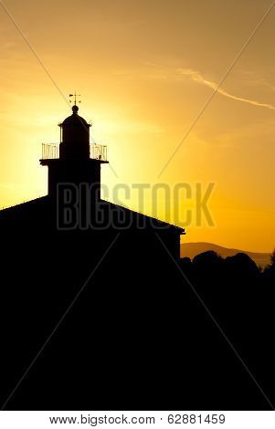 Lighthouse In Makarska At Sunset