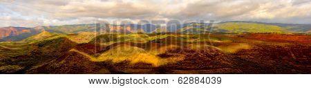 Beautiful panoramic image of Waimea canyon, Kauai