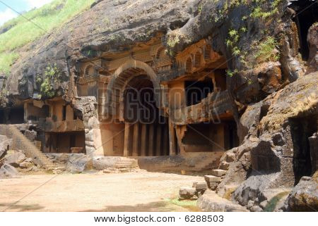 Cave temple, Bhaja, Maharashtra, India