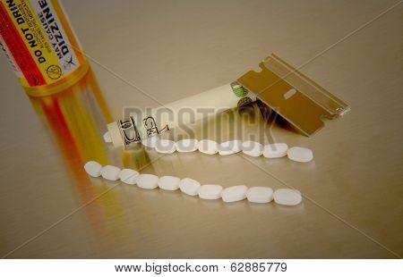 Compelling image concept Of prescription Drug abuse