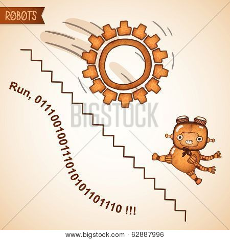 Abstract business run concept