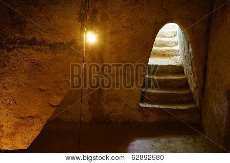 Underground Room At Cu Chi Tunnel