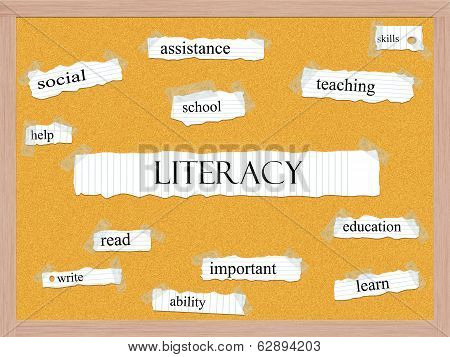 Literacy Corkboard Word Concept