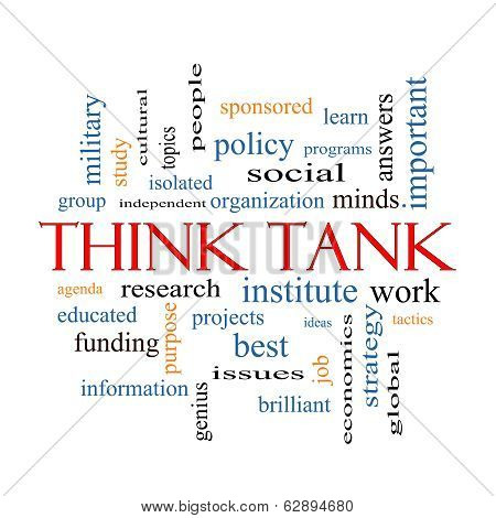 Think Tank Word Cloud Concept