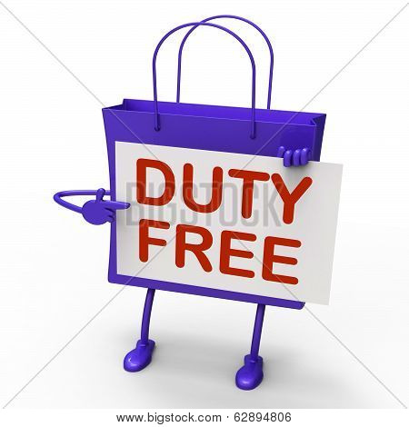 Duty Free Bag Represents Tax Exempt Discounts