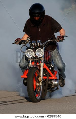 Motorbike Smoking Tire