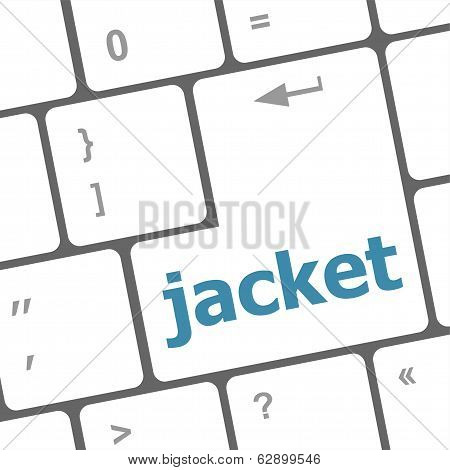 Jacket Word On Computer Keyboard Pc Key