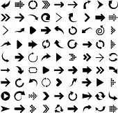 stock photo of arrow  - Vector illustration of black arrow icons - JPG