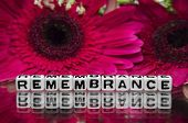 Remembrance Text With Flowers