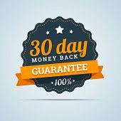 stock photo of medal  - 30 day money back badge - JPG