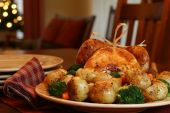 foto of turkey dinner  - Turkey dinner with roasted vegetables - JPG